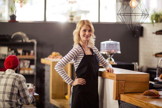 Portrait of a waitress