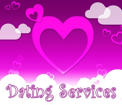 Dating Services Hearts Indicates Web Site And Romance