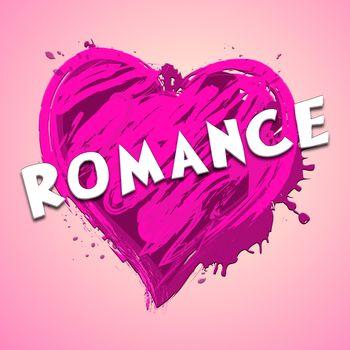Romance Heart Design Showing Love Celebration 3d Illustration