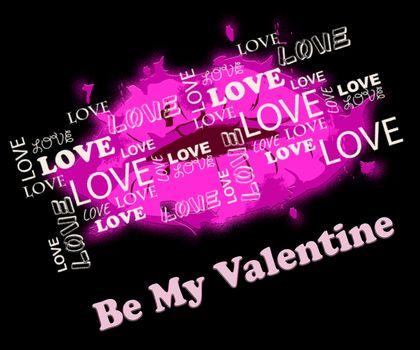 Be My Valentine Lips Showing Love Romance And Celebration