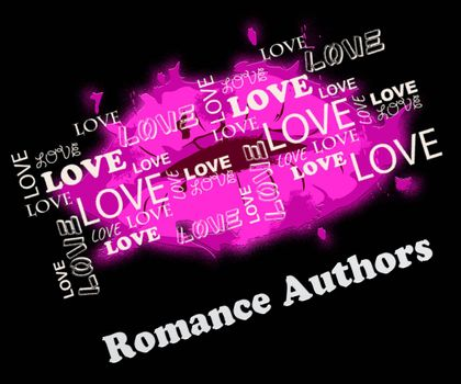 Romance Authors Lips Means Romance And Love Writers