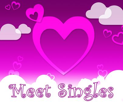 Meet Singles Hearts Indicates Find Lover And Romance