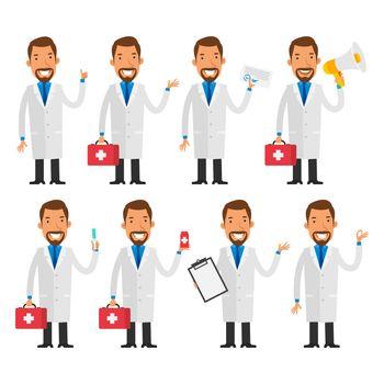 Dentist in various poses