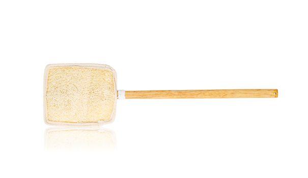 Wooden loofah or loofah brush for scrub body.
