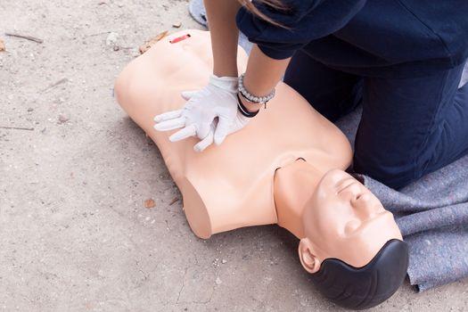 Cardiopulmonary resuscitation - CPR in the nature