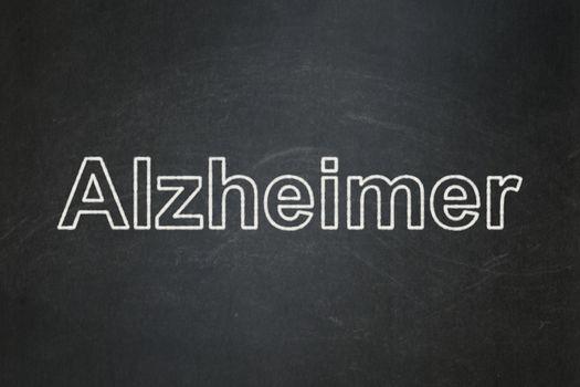 Health concept: Alzheimer on chalkboard background