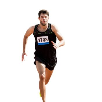 Sportsman is running during a race
