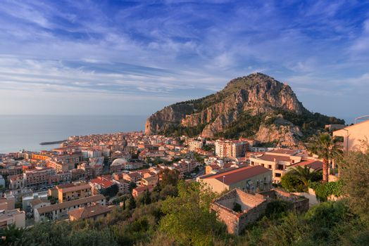 View on Cefalu Sicily Italy
