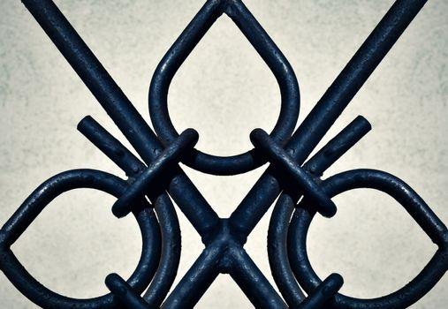 detail ornamental iron gates