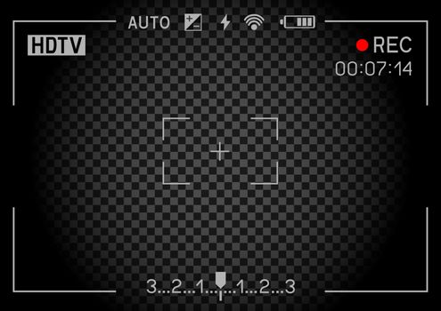 Rec camera viewfinder dark