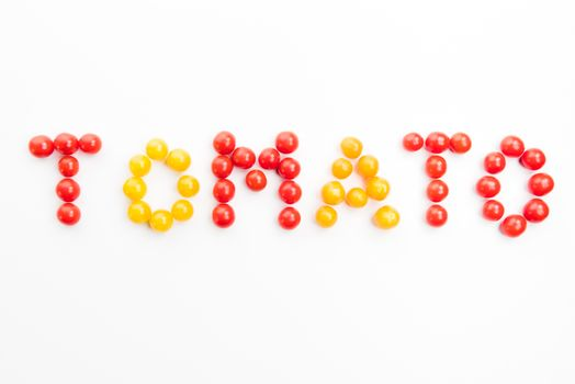 colorful tomato word