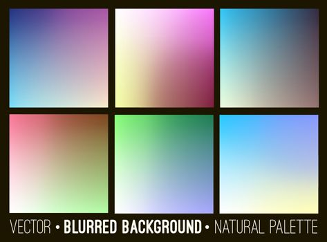 Blurred abstract backgrounds set. Smooth template design for creative decor web banners and mobile interface
