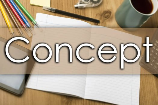 Concept - business concept with text - horizontal image