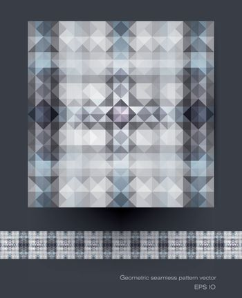 Seamless geometric patterns vector. Polygon ( polygonal ), triangle pattern shapes. Abstract Mosaic pattern, blue color background for your content, banner, template, network and web design