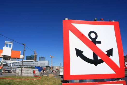 Prohibition of anchoring sign in Oslo
