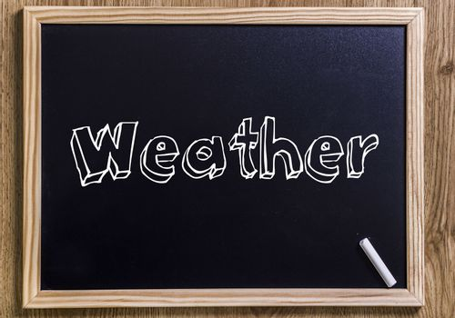 Weather - New chalkboard with 3D outlined text - on wood