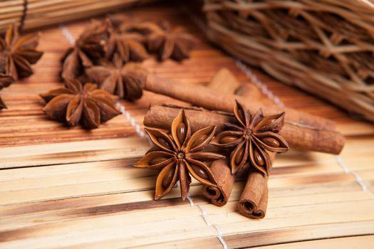Cinnamon and star anise