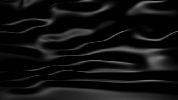 3D Illustration Abstract Black Background with Glare
