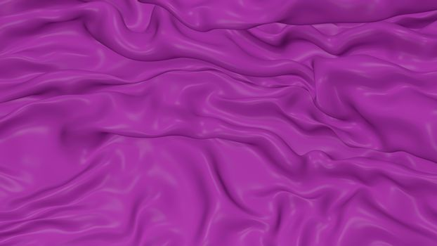 3D Illustration Abstract Purple Background Silk Cloth