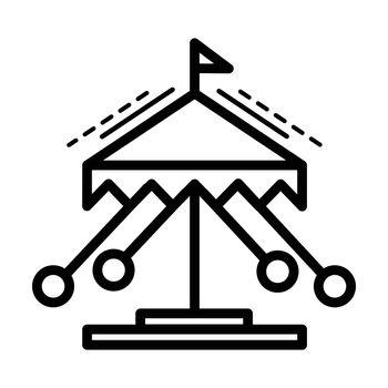 merry-go-round line icon  line style