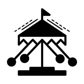 merry-go-round line icon  black color