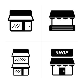 Store icons set