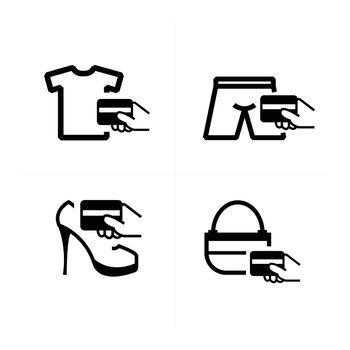 credit card purchase fashion icon