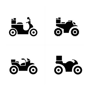 motorcycle and Transport Icons