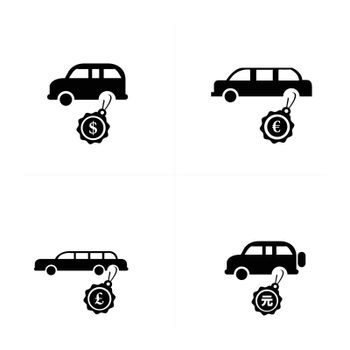 Sale Car icons