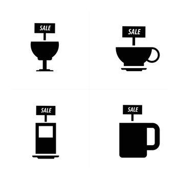 sale Drinks icons set