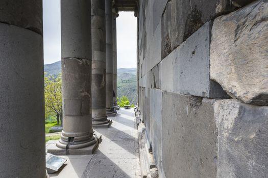 Ancient Garni pagan Temple, the hellenistic temple in Armenia