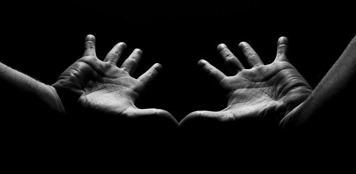 strange hands in the light