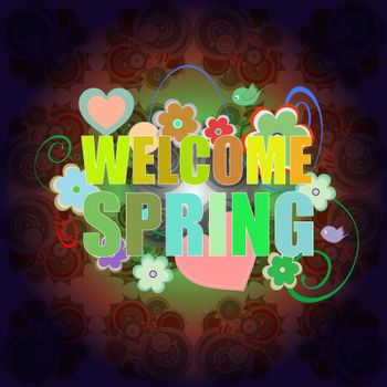 Welcome Spring Holiday Card