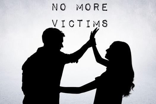 Composite image of battered women