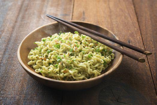 Delicious Asian dried ramen noodles