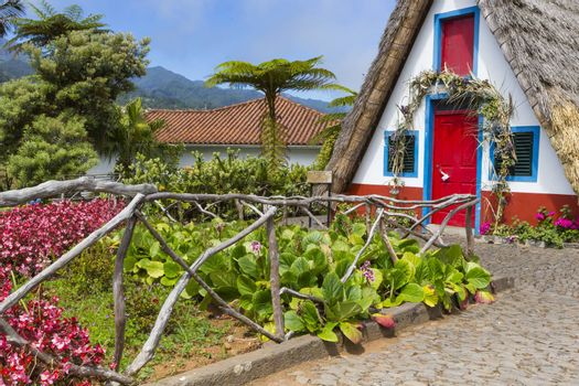 Traditional rural house in Santana Madeira, Portugal.