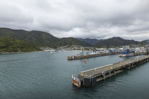 Townscape of Picton and Marlborough Sounds, New Zealand. Famous