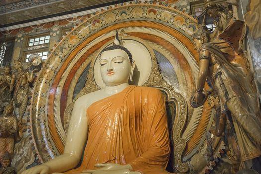 Gangaramaya Temple in Colombo, Sri Lanka