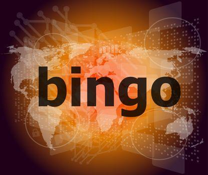 bingo word on business digital touch screen
