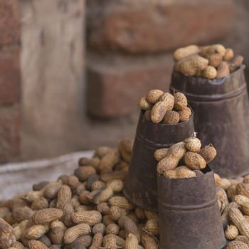 Nuts for sale in Nepal street.