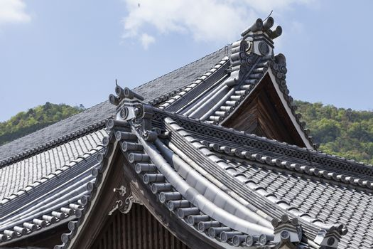Roof of Japanese Buddhism Temple