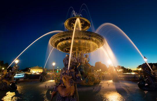 Illuminated Fountain de Mers