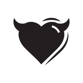 Heart of Devil love black color