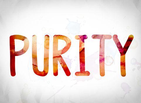 Purity Concept Watercolor Word Art
