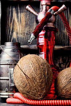 Hookah with coconut flavor