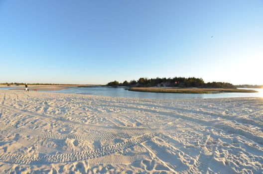 A view of the shore around the north end of Carolina Beach after the four wheel drives have left.