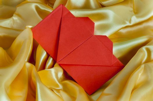 a orange heart for wedding invitation card
