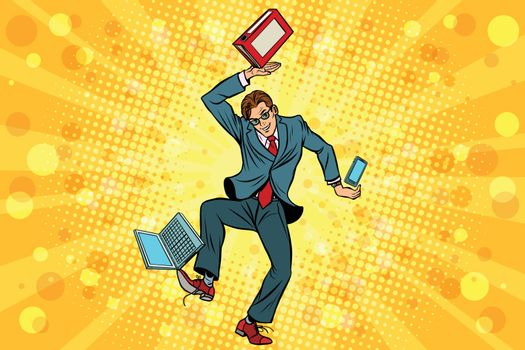Businessman juggler clerk