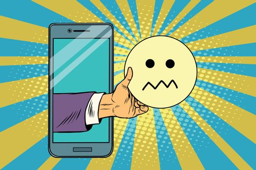 skepticism emoji emoticons in smartphone