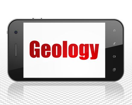 Science concept: Smartphone with Geology on display